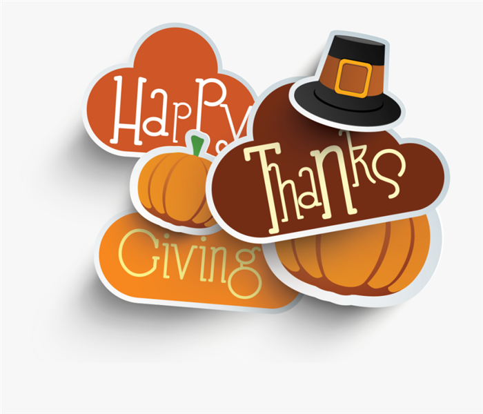 Giving thanks clipart with turkey